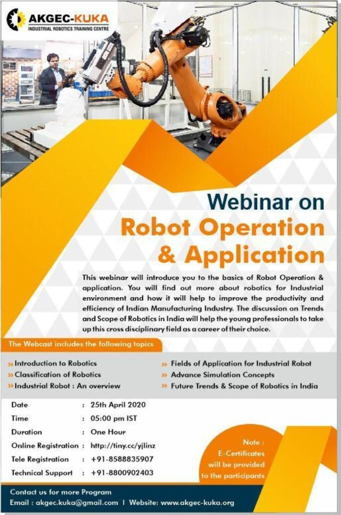 Webinar on Robot Operation & Application