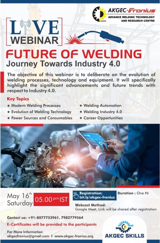 Webinar on Future of Welding
