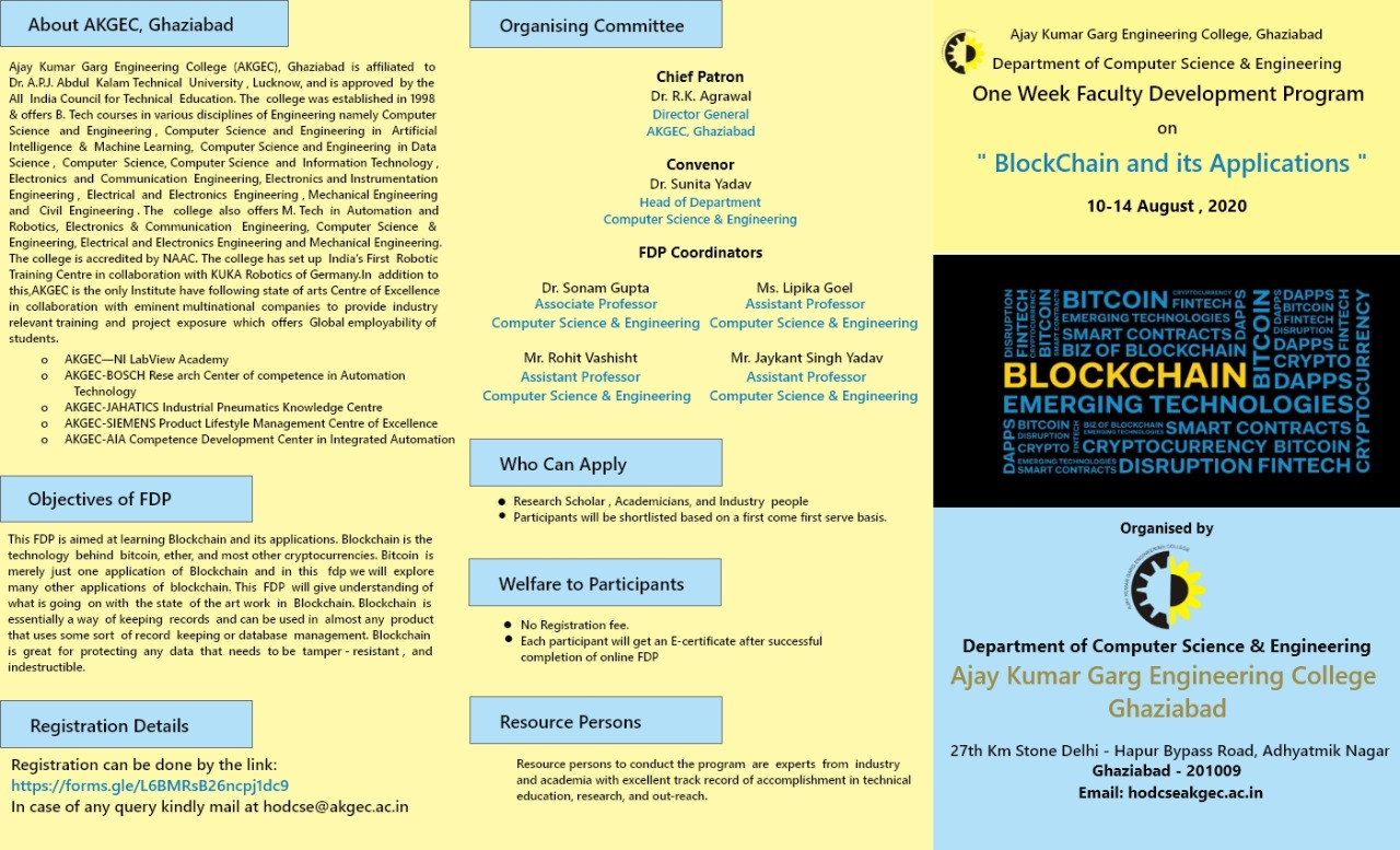 FDP on Blockchain and its Application