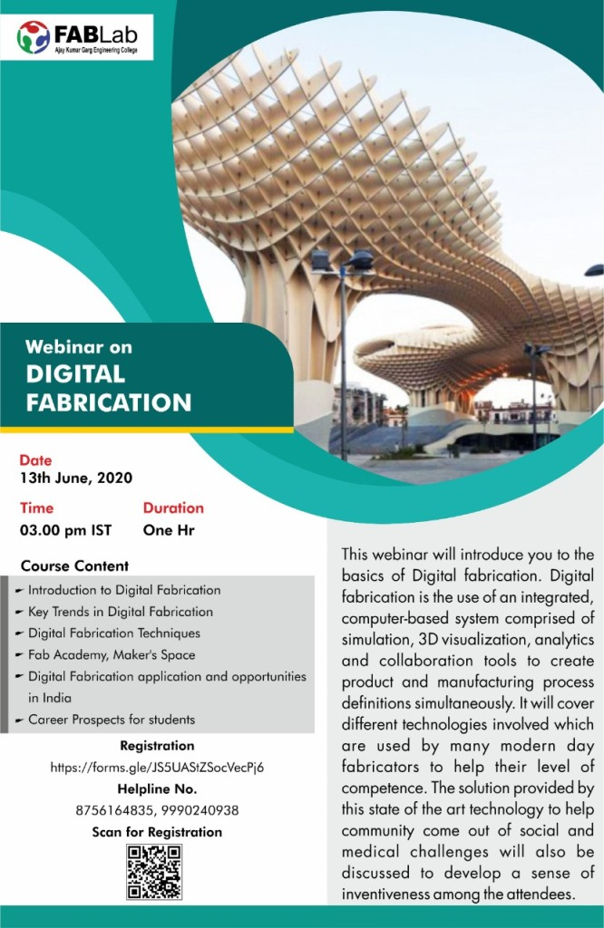 Webinar on Digital Fabrication